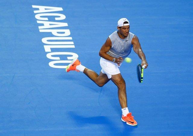 Rafa Nadal en una de sus participaciones en el torneo de Acapulco