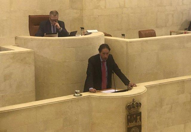 Gochicoa en el Pleno del Parlamento