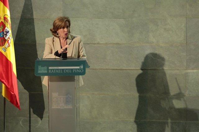 La Secretaria de Estado Ana de la Cueva