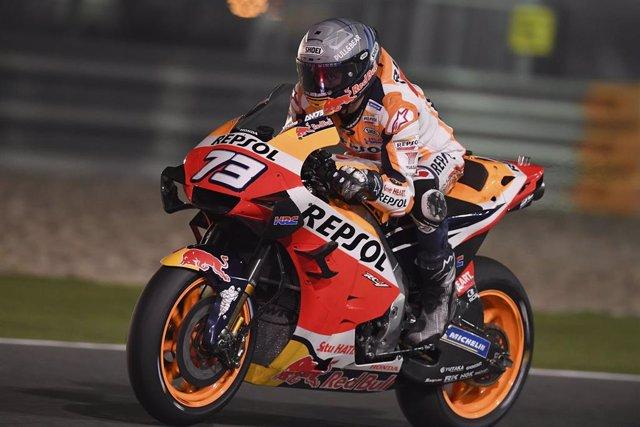 El piloto español de MotoGP Àlex Márquez (Repsol Honda) en el test de Catar