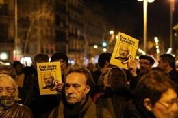 Protesta contra la extradición de Julian Assange