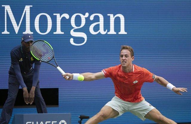 El tenista español Roberto Carballés durante el pasado US Open