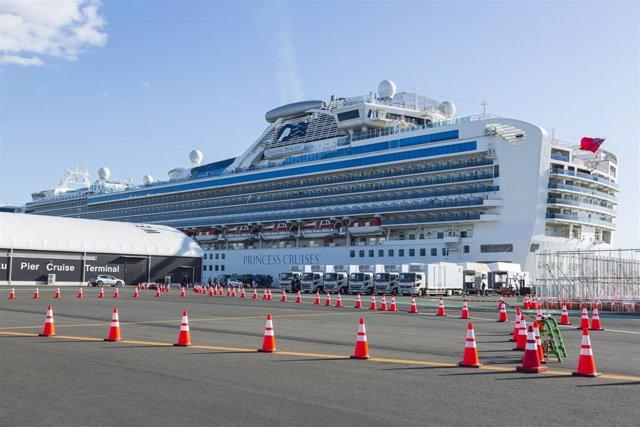 El crucero 'Diamond Princess', que estuvo en cuarentena en Japón por el coronavirus.