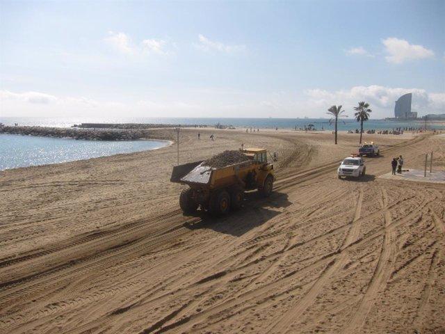 Playa de Somorrostro de Barcelona (archivo)