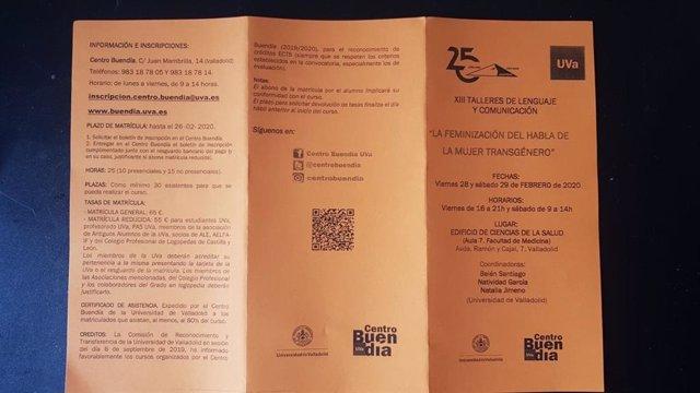Programa de los XIII Talleres de Lenguaje y Comunicación organizados por la Facultad de Medicina de la UVA.