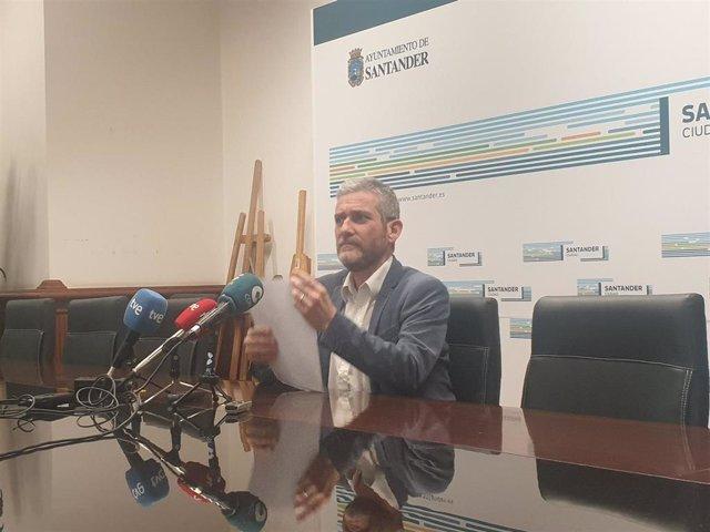 El portavoz del equipo de Gobierno de Santander, Javier Ceruti