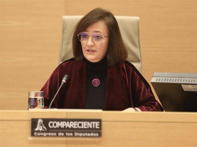 La candidata propuesta como Presidenta de la Autoridad Independiente de Responsabilidad Fiscal, Cristina Herrero Sánchez,.