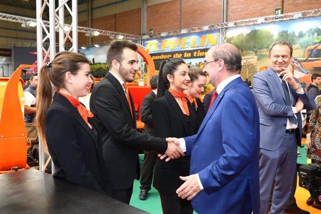 Lambán en la inauguración de FIMA.