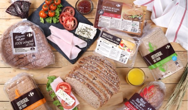 Pan cien por cien integral de Carrefour