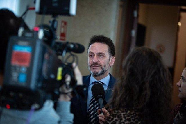 El portavoz parlamentario adjunto de Ciudadanos, Edmundo Bal, en la entrada de la Junta de Portavoces del Congreso
