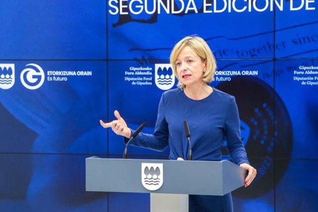 La portavoz de la Diputación de Gipuzkoa, Eider Mendoza