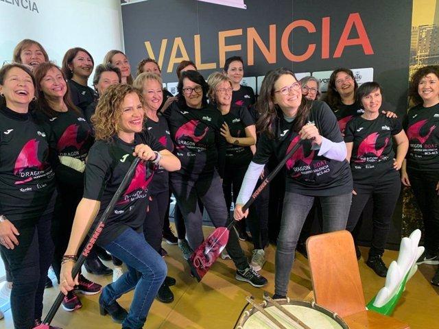 Presentación del equipo de remeras Dragon Boat Marina Valencia BCS-ACS