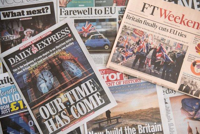 Portadas de periódicos británicos por el Brexit