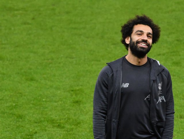 09 December 2019, Austria, Salzburg: Liverpool's Mohamed Salah visits the Red Bull Arena, ahead of Tuesday's UEFA Champions League Group E soccer match against Red Bull Salzburg. Photo: Barbara Gindl/APA/dpa