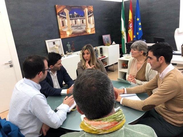 Reunión de la delegada territorial Raquel Morales en Alcalá la Real