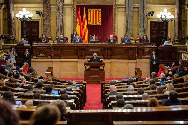 Ple monogrfic de les dones al Parlament de Catalunya.