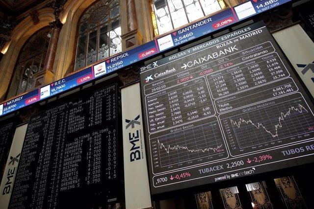 Imagen de la cotización de las empresas del Ibex 35 en la Bolsa de Madrid
