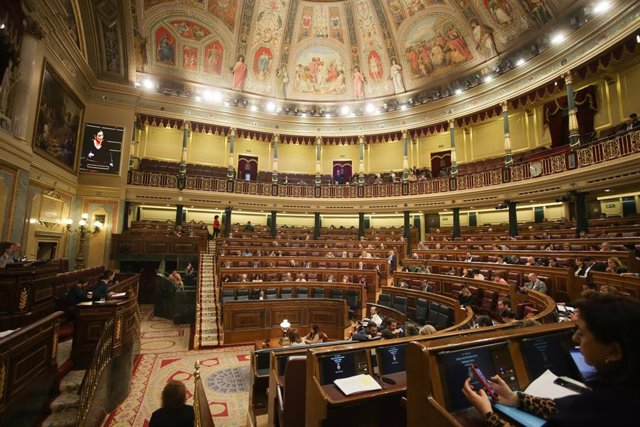 Hemiciclo del Congreso de los Diputados durante una sesión plenaria, a 11 de febrero de 2020.