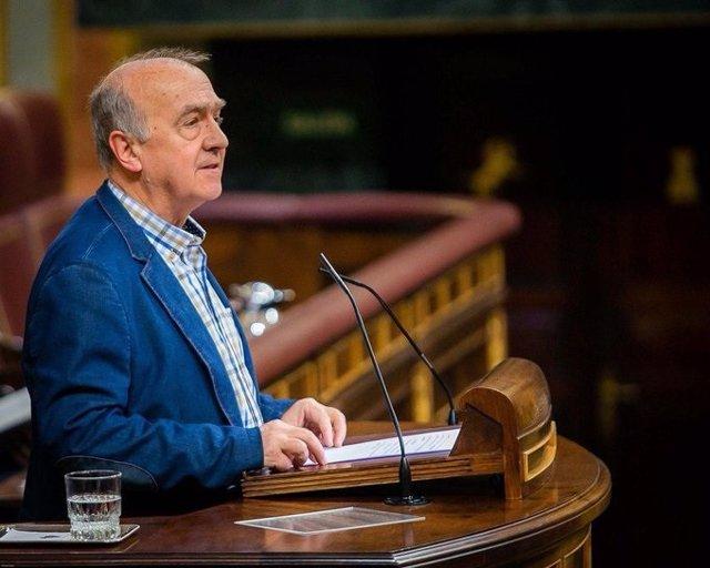 El diputado de EH-Bildu Iñaki Ruiz de Pinedo, ante el Pleno del Congreso