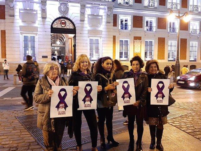 Concentración del Foro de Madrid contra la Violencia a las Mujeres.