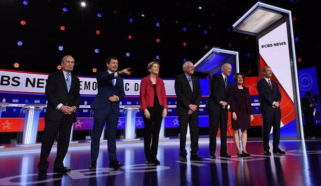 EEUU.- Los precandidatos demócratas se unen contra Sanders en el debate previo a