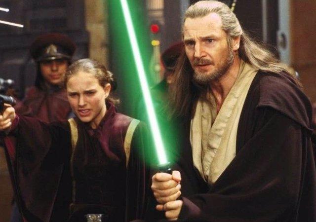 Liam Neeson en Star Wars: La amenaza fantasma