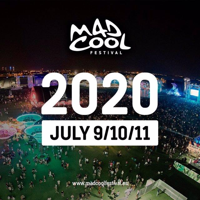 Imagen del cartel del MAD COOL 2020.