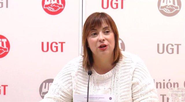 La vicesecretaria general de UGT, Cristina Antoñanzas.