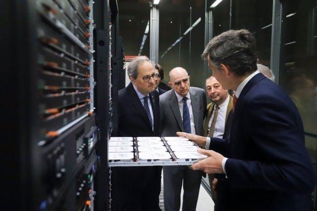 El presidente de la Generalitat Quim Torra visita el BSC-CNC