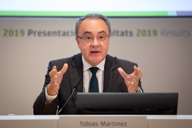 El CEO de Cellnex Telecom, Tobías Martínez, comparece para presentar los resultados del año 2019 de la empresa, en Av.Parc Logístic, Barcelona, a 26 de febrero de 2020.