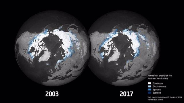 Variación de permafrost