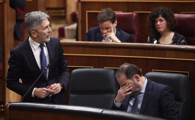 El ministre de l'Interior, Fernando Grande-Marlaska, al Congrés dels Diputats