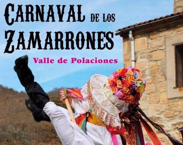 Cartel del Carnaval de los Zamarrones del Valle de Polaciones