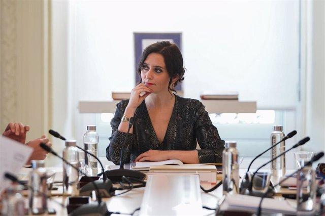 Isabel Díaz Ayuso preside el Consejo de Gobierno de la Comunidad