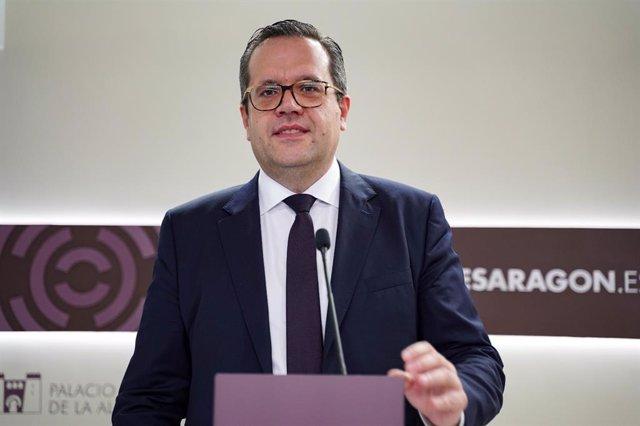 El diputado de Ciudadanos en las Cortes de Aragón, Carlos Ortas.