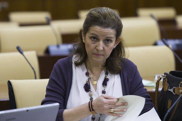 Maria José Piñero després de dimitir com a presidenta provincial de Vox, 26 de febrer del 2020.