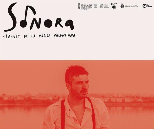 Andreu Valor actúa en la Llotja d'Elx en el Circuito Sonora.