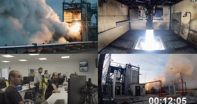 Ensayo del cohete de PLD Space.