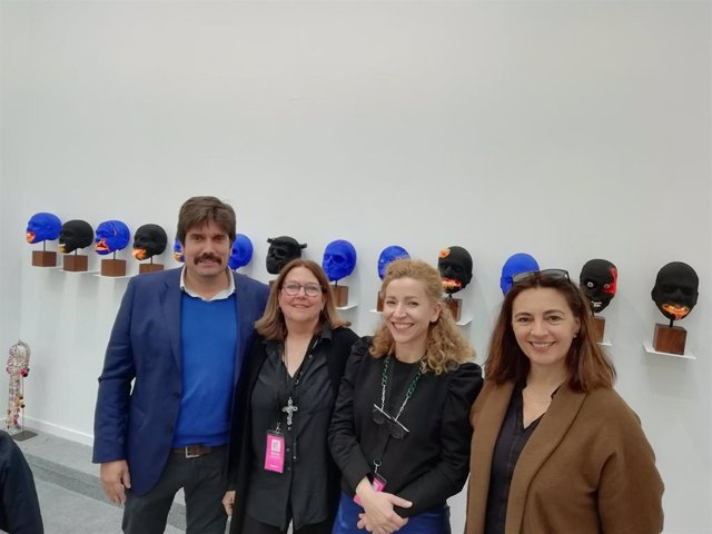 La delegada de la Presidencia para la Cultura, Catalina Solivellas, en la inauguración de la 15ª edición de Art Madrid.