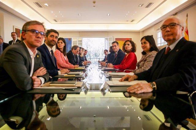 Primera reunión de la mesa de diálogo sobre Cataluña