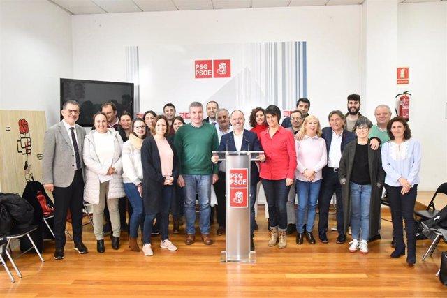 Imagen de la reunión de la ejecutiva provincial de Ourense celebrada este miércoles