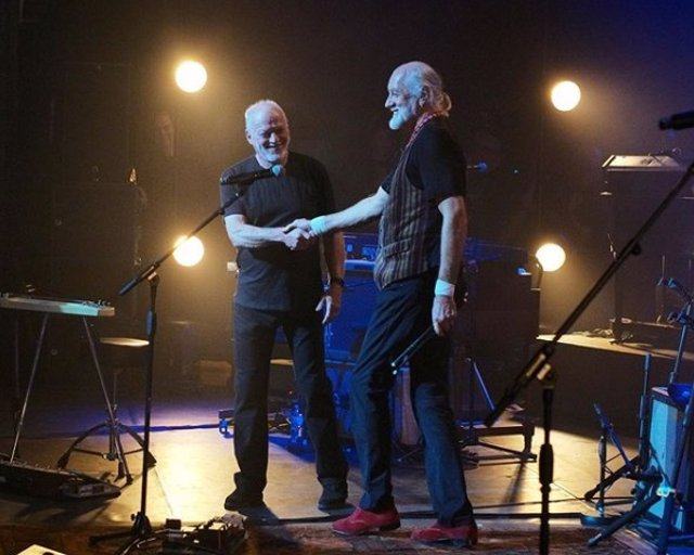 David Gilmour y Mick Fleetwood