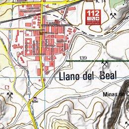 Lugar en el que se ha producido el suceso, en un mapa