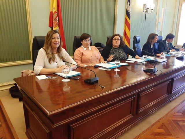 La consellera de Salud y Consumo, Patrícia Gómez, en comisión parlamentaria.