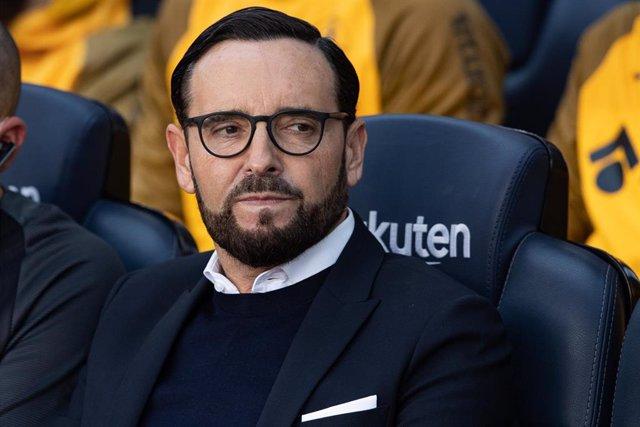 El entrenador del Getafe, José Bordalás