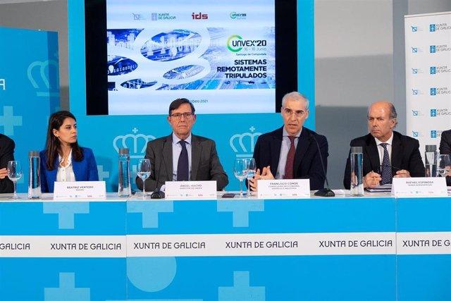 Presentación de la sexta edición de Unvex 2020, encuentro de referencia del sector de los vehículos no tripulados, que se celebra por primera vez en Galicia