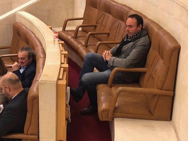José Ramón Blanco durante su etapa de diputado en el Parlamento de Cantabria