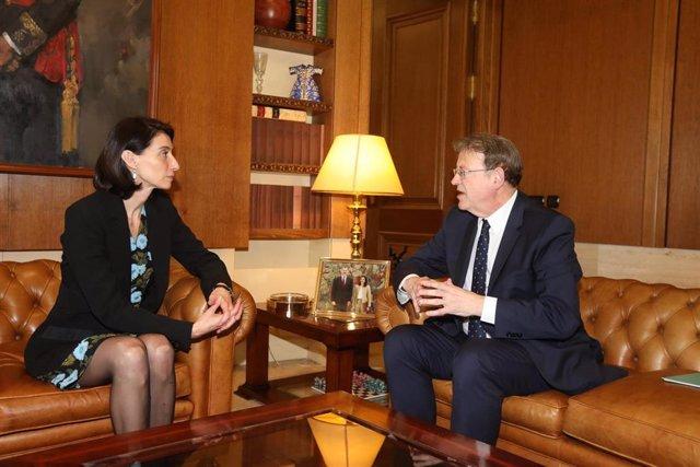 Reunión entre la presidenta del Senado, Pilar Llop, y el president de la Generalitat, Ximo Puig