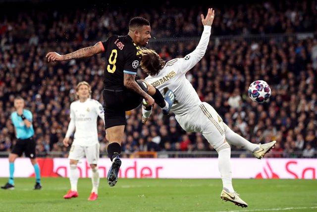 """Fútbol/Champions.- Gabriel Jesus: """"No es falta a Ramos, apenas apoyo las manos"""""""