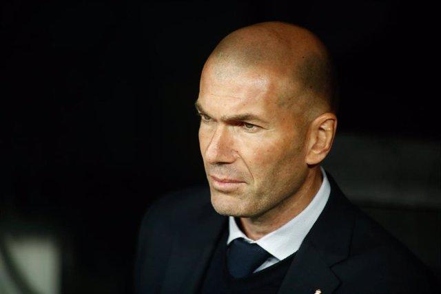 Zinédine Zidane, entrenador del Real Madrid
